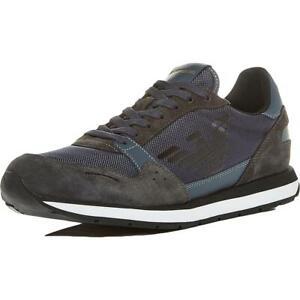 Emporio Armani Mens Navy Suede Lace-Up Casual Shoes 8 Medium (D) BHFO 4786