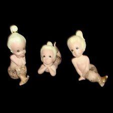Vintage Freeman McFarlin Mermaid Babies Figurines - Pink - Rare!