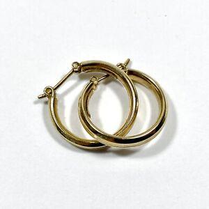 9ct Yellow Gold Hoop Earring 18mm
