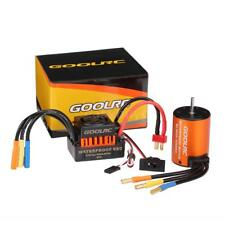 GoolRC 3650 4300KV Brushless Motor + 60A ESC Combo Set for 1/10 RC Truck T1J7