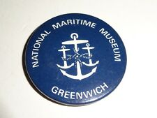"""vintage National Maritime Museum Greenwich 1 1/4"""" Pinback Button"""