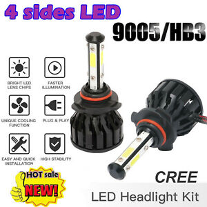 9005 HB3 LED Globes 200W 20000LM Headlight Conversion High Beam Kit 6000K White