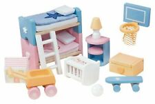 Le Toy Van DOLL HOUSE SUGAR PLUM CHILDREN'S ROOM Wooden Toy BNIP