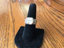 "Silpada ""Blissful Thinking"" Ring .925 Sterling Silver Cubic Zirconia Size 8"