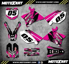 Yamaha YZ 125 2002 - 2006 Full custom graphics kit Digger Pink style stickers