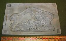 CHARGING BULL KENT FIREWORK CHESTERTOWN MD PRINTING PLATE RARE