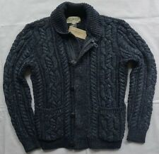 Denim & Supply Ralph Lauren Blue MARLED Cotton Shawl Cardigan taglia M