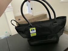Top Paw Pet Fashion Tote Black Nylon with Mesh for Dogs up to 12 Lbs