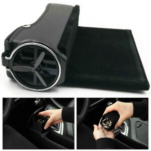 Black PU For Car Seat Storage Box Catcher Gap Filler Collector Cup Holder Stable