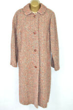 CASTLE ISLAND Irish Tweed pure new wool long coat, UK 16