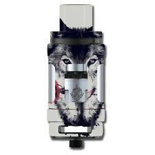Skin Decal for Smok TFV12 Cloud Beast King Tank Vape Mod / Wolf with rose in mo