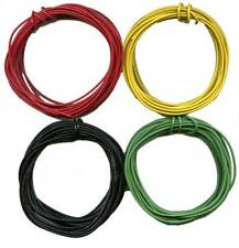 80'- 20' ea. Black GREEN YELLOW RED 22 Gauge Stranded Wire HO Scale Gauge Trains
