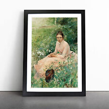 More details for portrait of a young woman by bruno liljefors wall art framed print picture