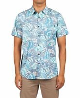 Rip Curl Mens Shirt Blue Size 2XL Tropical Button Down Short Sleeve $59 131