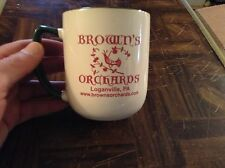 Brown's orchard of Loganville Pennsylvania souvenir mug