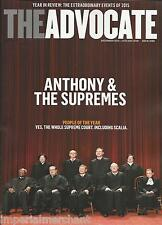 The Advocate gay magazine Supreme court Year in review LGBT activism Banned camp