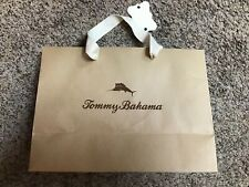 """TOMMY BAHAMA empty paper gift shopping BAG size 12""""X 8-3/4""""X 5"""" Brown"""