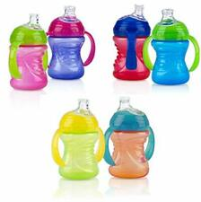 Nuby 2 Count 2 Handle Cup with No Spill Soft Flex Super Spout, Color May Vary