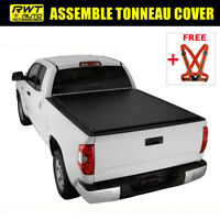 Assemble Lock Tri-Fold Soft Tonneau Cover Fit 2015-2019 Ford F-150 8 FT Long Bed