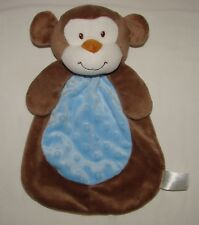 Baby Gear Brown Blue Monkey Plush Lovey Security