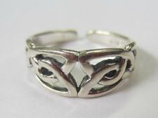 Sterling Silver Adjustable Toe Ring Celtic Design Solid 925 Jewelry