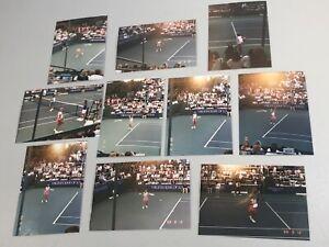 "Lot of 9 Chris Evert Original Photos 5x3.5"" Virginia Slims LA Champ 8/12/1988"
