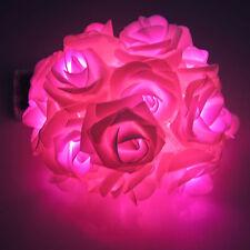 20-LED Rose Flower Fairy Wedding Party Garden ChristmasString Lights Xmas Decor