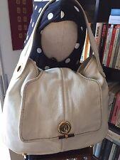 YSL Saint Laurent Muse w/authenticity certificate ivory leather handbag.