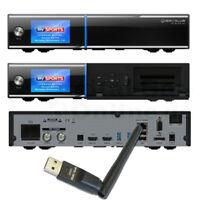 ► GigaBlue UHD Quad 4K 2xDVB-S2X FBC Twin Tuner CI LAN PVR E2 + WLAN + 1TB HDD