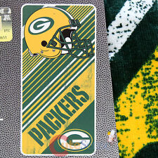 NFL Green Bay Packers Beach Towel Bath Towel  28x58  Cotton Diagonal Logo