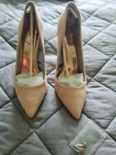 Ted Baker Pink Suede Court Shoes Uk7