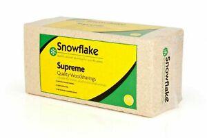 SNOWFLAKE SUPREME WOOD SHAVINGS 20KG, SUPERIOR SMALL ANIMAL BEDDING SAWDUST