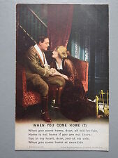R&L Postcard: Bamforth Song Card When You Come Home 2, Series 4874