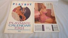 2 Playboy Playmate Calendars Dated 1960 & 1968 With A 1961 Calendar Cover!!