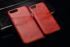 Appel iPhone 7 Schutzhülle Farbe  Rot  Leder Luxus 1 Case Cover Deutschland 🇩🇪