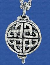 """Celtic Knot Oil Diffuser Aromatherapy Pendant on 24"""" Rhodium-Plated Chain"""