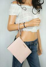 Michael Kors Jet Set Travel XL Zip Clutch Wristlet Pebbled Leather Pink Blossom