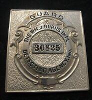VINTAGE Wm. J Burns Int'l Detective Agency Inc Badge #30825 - #992 unmarked