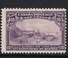 Canada 1908 Quebec Tercentenary SG 193 | 10 cents violet | Mint hinged/thin