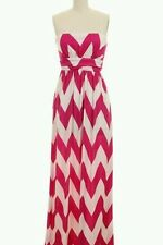 FUCHSIA CHEVRON PRINT TUBE MAXI BOUTIQUE dress IN SMALL-OTHER SIZES AVAILABLE