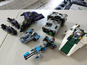 Lot LEGO Sets Incomplete Star Wars plus Black Panther