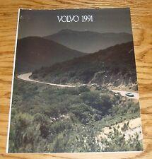 Original 1991 Volvo Full Line Foldout Sales Brochure 91 240 740 940 Coupe