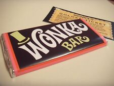 wonka bar 114g edible chocolate  with golden ticket