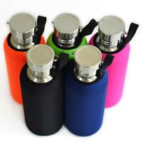 BPA Free Stainless Steel Water Bottle Leak-Proof Sport Flask with Soft Sleeve 1L