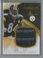 2014 Panini Immaculate Football Antonio Brown Laundry Tag Patch Card # 5/5