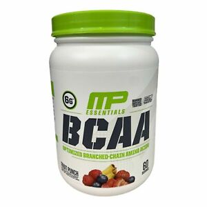 MusclePharm MP Essentials BCAA Amino Acids Fruit Punch 1.14 Lbs 60 Servings