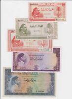 Libya Lot Idris Full Set  5 10 Piastres 1/4 1/2 1 Pound 1952 P12 P13 P14 P15 P16