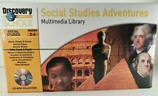 Social Studies Multimedia School Library Grade 3-6. 10 CD Rom Mac Windows Teach