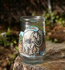 Welch's Jam Jelly Glass Jar Cup World Wildlife Fund Asian Elephant Endangered