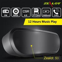 ZEALOT S9 bluetooth Wireless HiFi Speaker Stereo Super Bass Music Sounder 2400mA